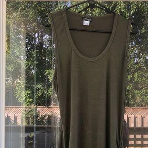 Ruched Olive Green Maxi Dress